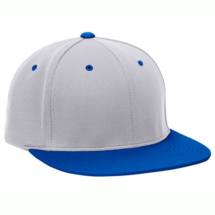 Pacific Headwear ES342 Premium P-Tec Cap in Silver and Royal Blue