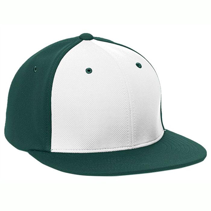 Pacific Headwear ES342 Premium P-Tec Cap in White and Dark Green