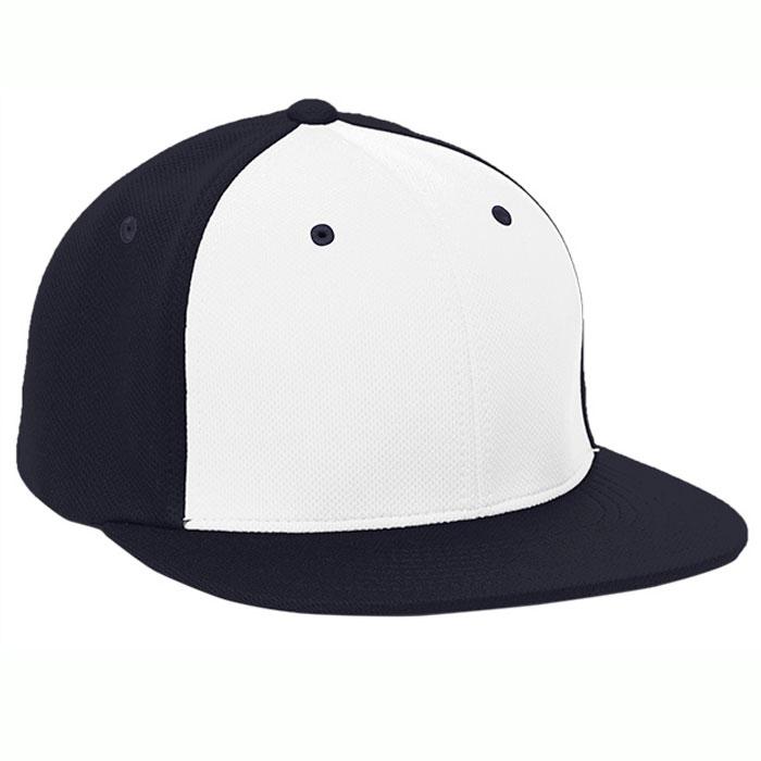 Pacific Headwear ES342 Premium P-Tec Cap in White and Navy Blue