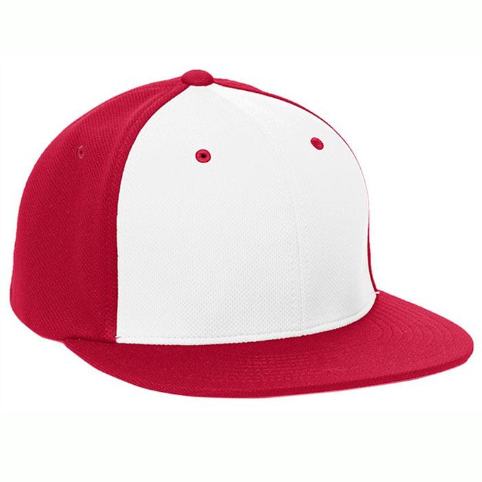 Pacific Headwear ES342 Premium P-Tec Cap in White and Red