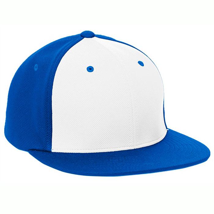 Pacific Headwear ES342 Premium P-Tec Cap in White and Royal Blue