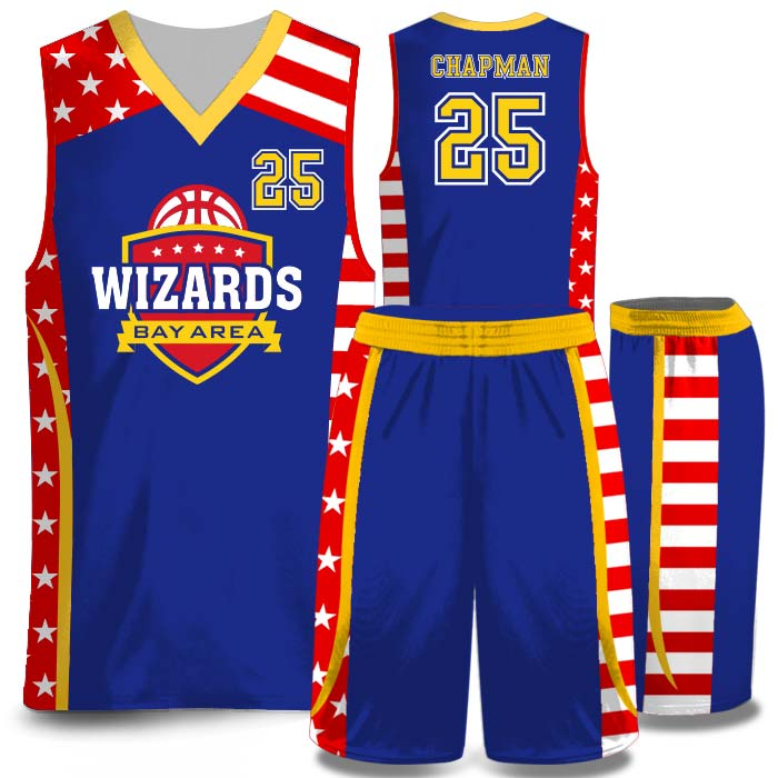 Elite American Patrol 2 full color sublimated basketball uniform