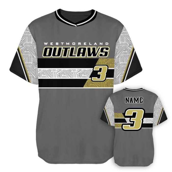 Sublimated Elite New School Custom Baseball Jersey Crew