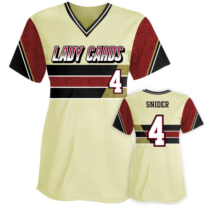 Sublimated Elite New School Custom Fastpitch Jersey Crew