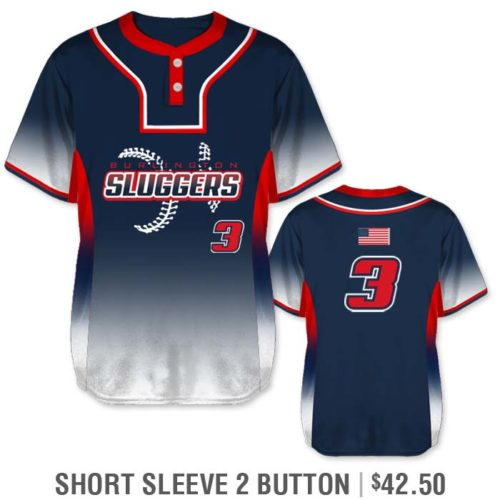 Elite 5th Element Custom Baseball Jersey 2-Button Gradient Color Fade