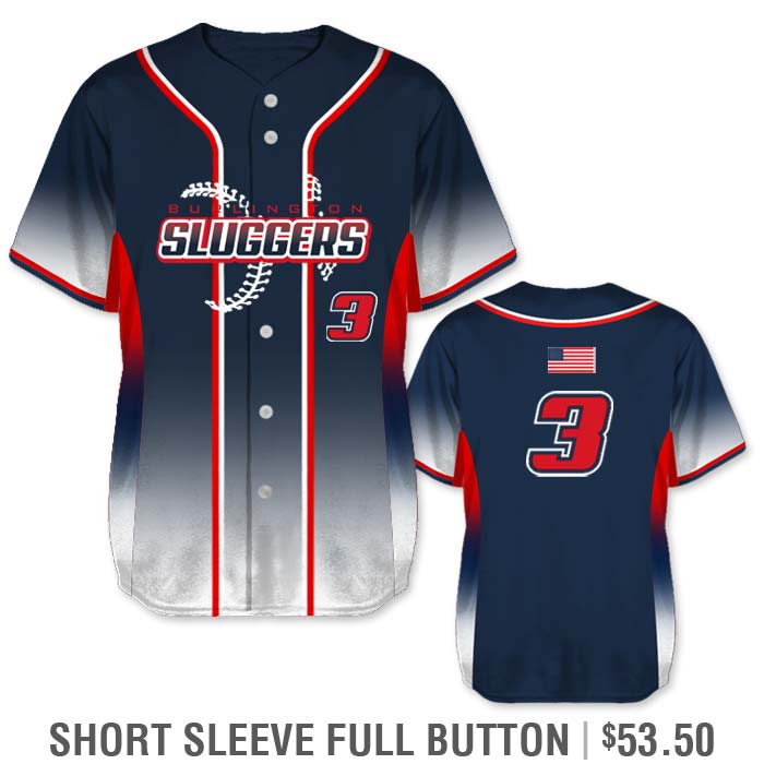Elite 5th Element Custom Baseball Jersey Full-Button Gradient Color Fade