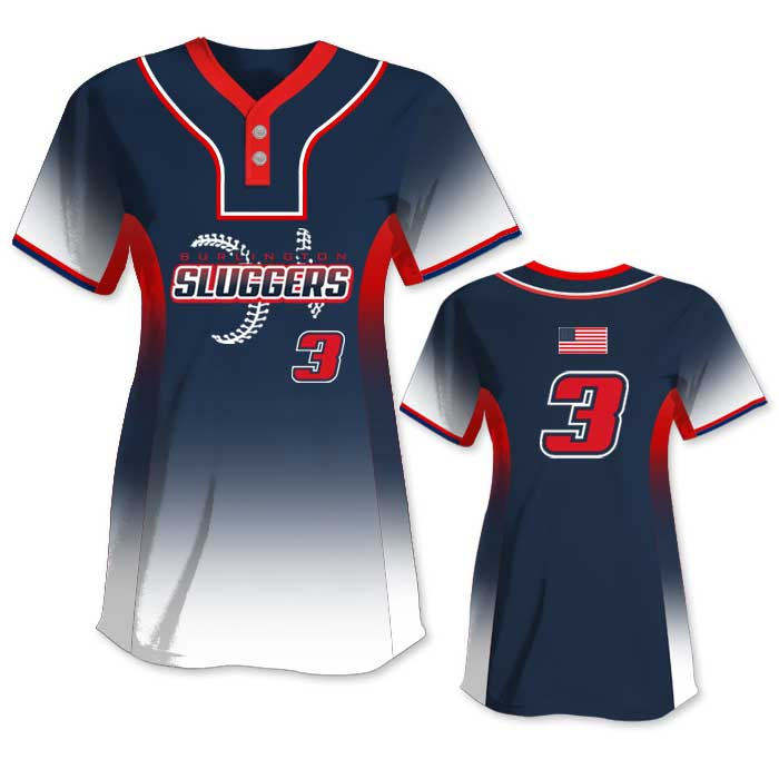 Custom Sublimated Elite 5th Element FP Jersey SS 2-Button