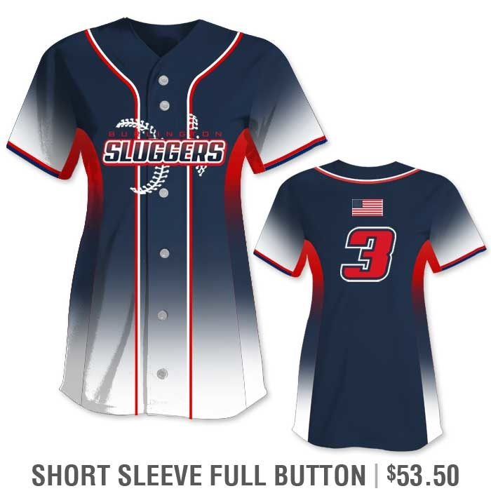 Elite 5th Element Custom Fastpitch Jersey Full-Button Gradient