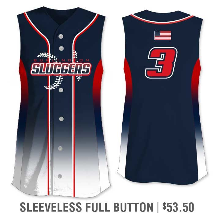 Elite 5th Element Custom Fastpitch Jersey Sleeveless Full-Button Vest Gradient