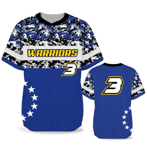 Custom Sublimated Elite American Soldier BB Jersey SS No-Button