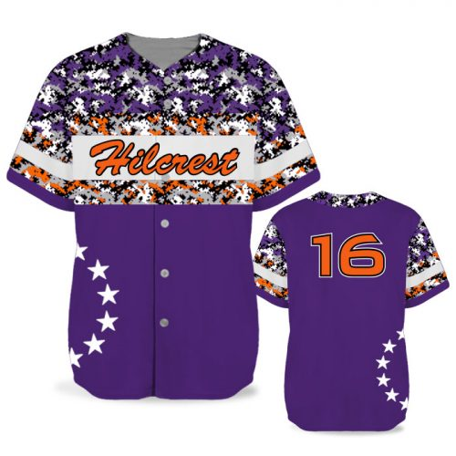 Custom Sublimated Elite American Soldier BB Jersey SS Full-Button
