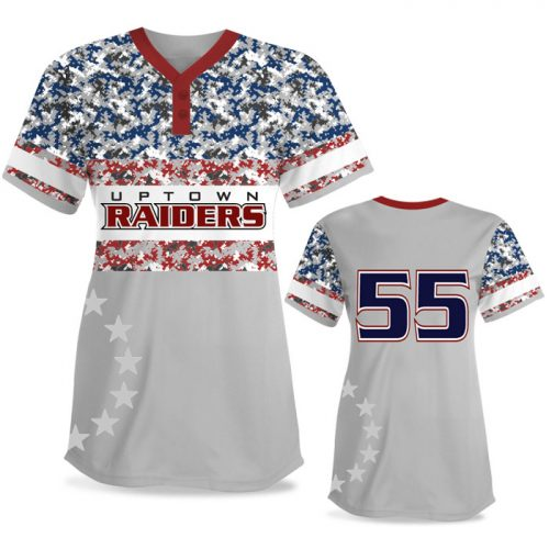 Custom Sublimated Elite American Soldier FP Jersey SS 2-Button