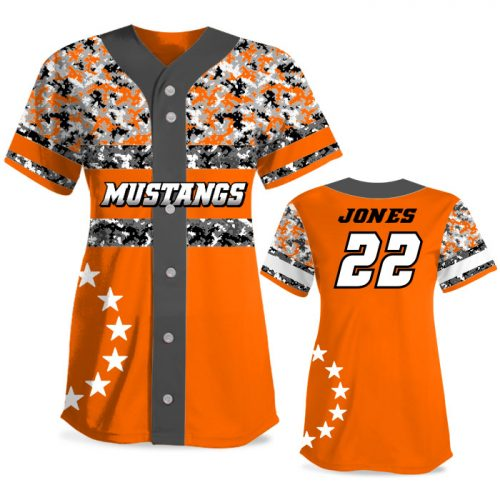 Custom Sublimated Elite American Soldier FP Jersey SS Full-Button
