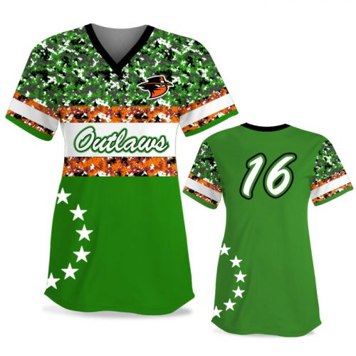 Custom Sublimated Elite American Soldier FP Jersey SS No-Button