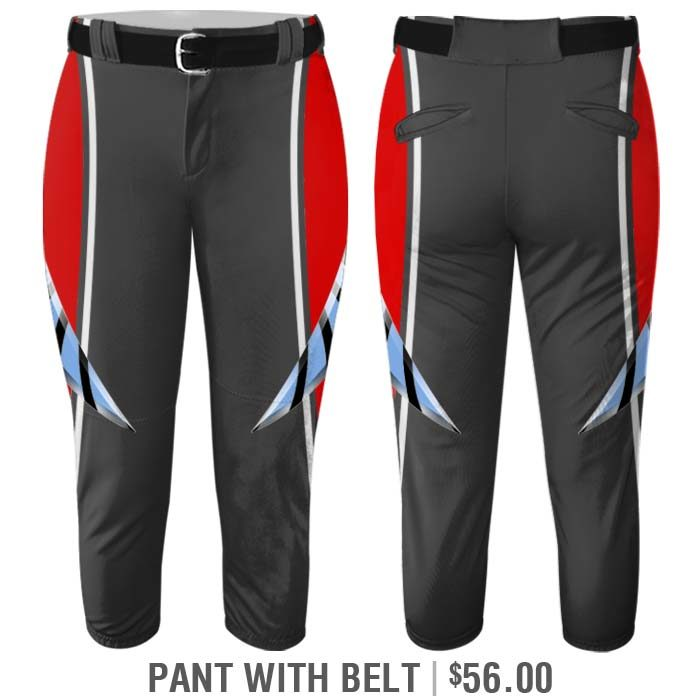 Elite Bash Boost Deluxe Custom Sublimated Belted Softball Pants