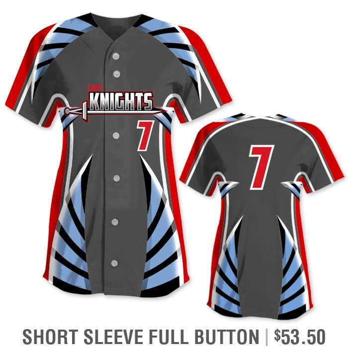 Elite Bash Boost Deluxe Custom Sublimated Short Sleeve Full-Button Softball Jersey