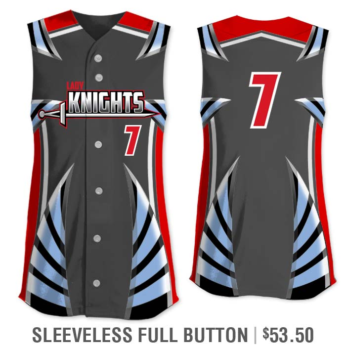 Elite Bash Boost Deluxe Custom Sublimated Sleeveless Full-Button Softball Jersey