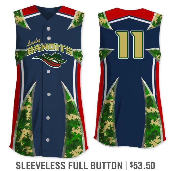 Elite Bash Digi Camo Custom Sublimated Short Sleeve No-Button Pullover Softball Jersey Uniform Builder