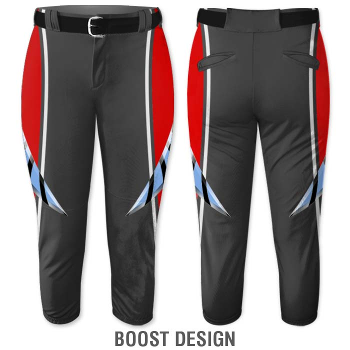 Elite Bash Fastpitch Pants, Custom Sublimated Boost Pattern, Color Fade Gradient
