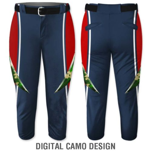 Elite Bash Fastpitch Pants, Custom Sublimated Digital Camo Pattern, Camouflage