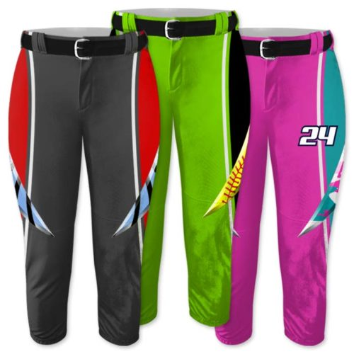 Elite Bash Fastpitch Pants, Custom Sublimated, Pick Your Pattern