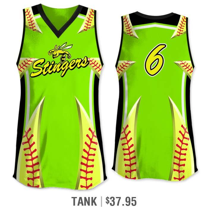 Elite Bash Stitches 2 Custom Sublimated Tank cut Softball Jersey