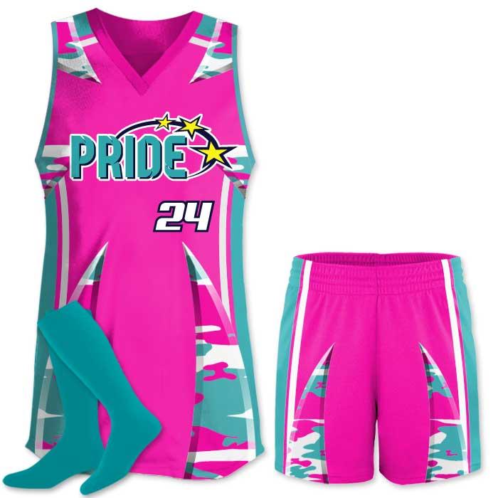 Elite Bash Traditional Camo Custom Sublimated Softball Uniform