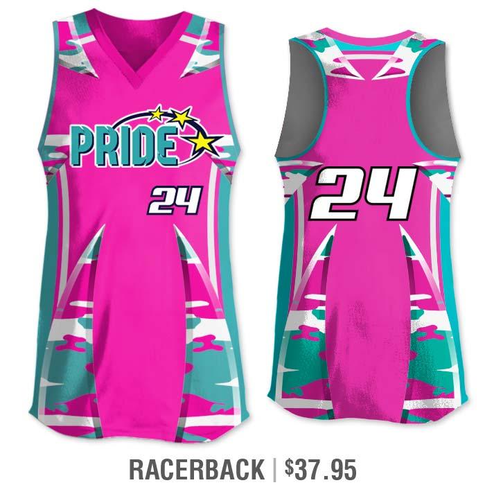 Elite Bash Traditional Camo Custom Sublimated Softball Uniform Racerback Jersey