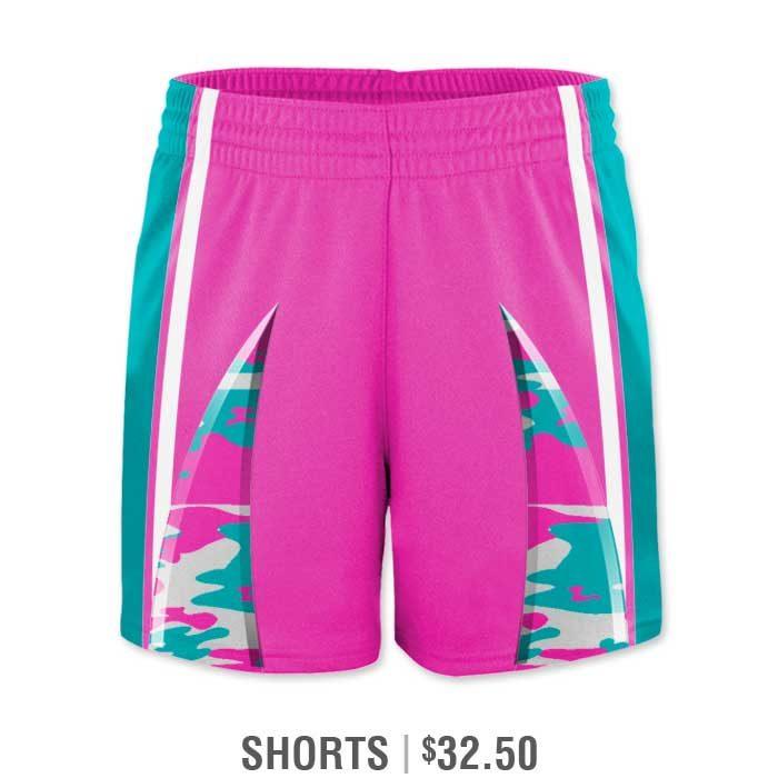 Elite Bash Traditional Camo Custom Sublimated Softball Uniform Shorts