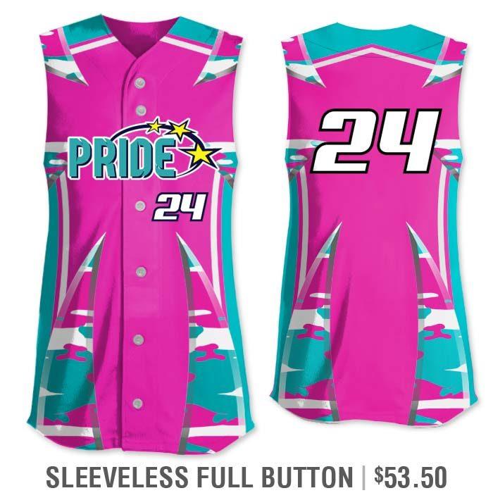 Elite Bash Traditional Camo Custom Sublimated Softball Uniform Sleeveless Full-Button Vest Jersey