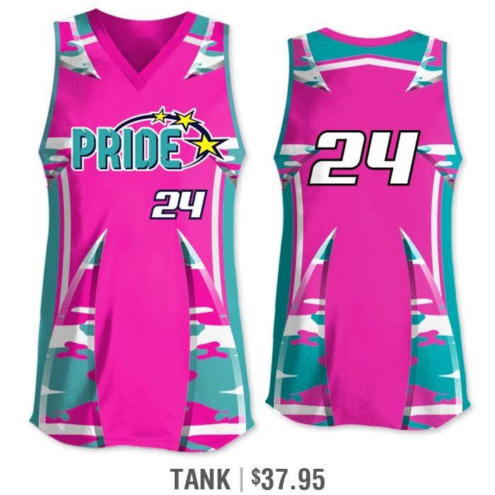 Elite Bash Traditional Camo Custom Sublimated Softball Uniform Tank Top Jersey