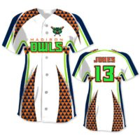 Elite Bash Trilogy Custom Sublimated Short Sleeve Full-Button Softball Jersey Uniform Builder