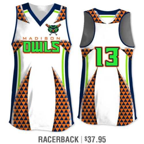 Elite Bash Trilogy Custom Sublimated Racerback Softball Jersey Uniform Builder