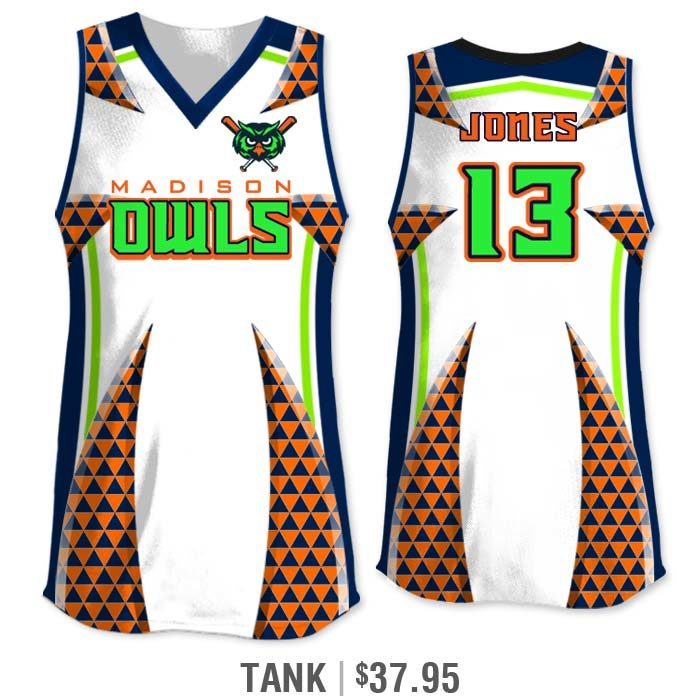 Elite Bash Trilogy Custom Sublimated Tank Softball Jersey Uniform Builder