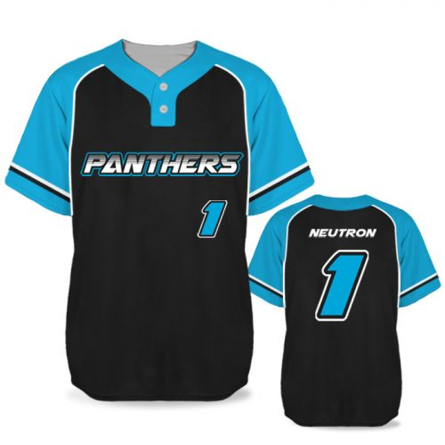 Custom Sublimated Elite Batting 1000 BB Jersey SS 2-Button