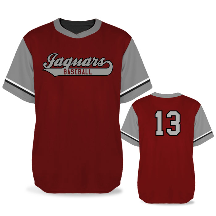 Custom Sublimated Elite Batting 1000 BB Jersey SS No-Button