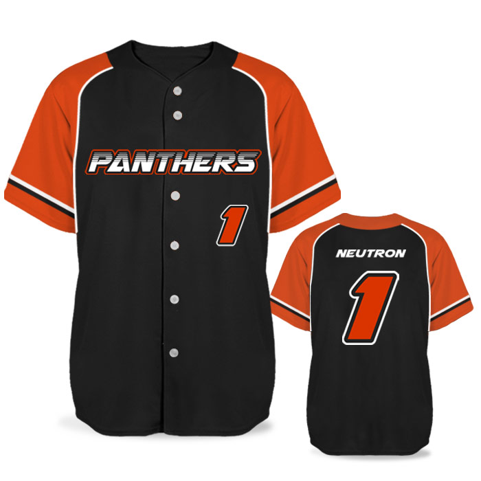 Custom Sublimated Elite Batting 1000 BB Jersey SS Full-Button