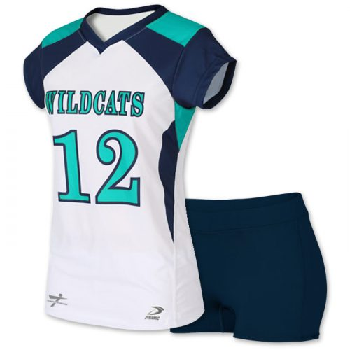 sublimated cap sleeve volleyball jersey