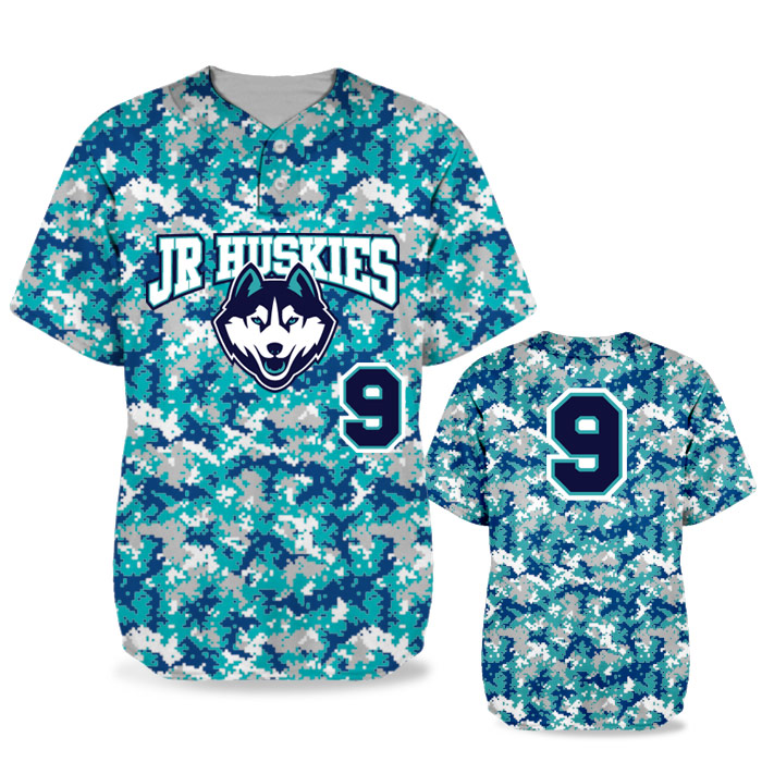 Custom Sublimated Elite Camo Digital BB Jersey SS 2-Button