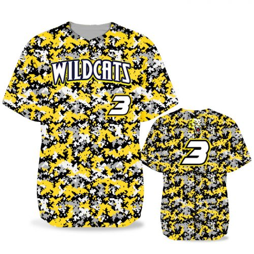 Custom Sublimated Elite Camo Digital BB Jersey SS No-Button