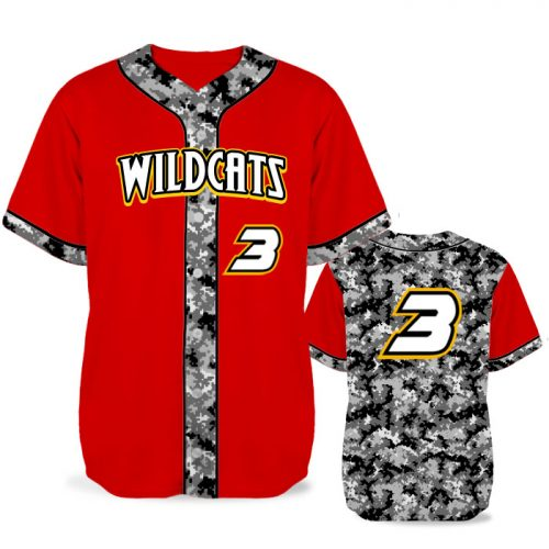 Custom Sublimated Elite Camo Lot 2 Digital BB Jersey SS Full-Button