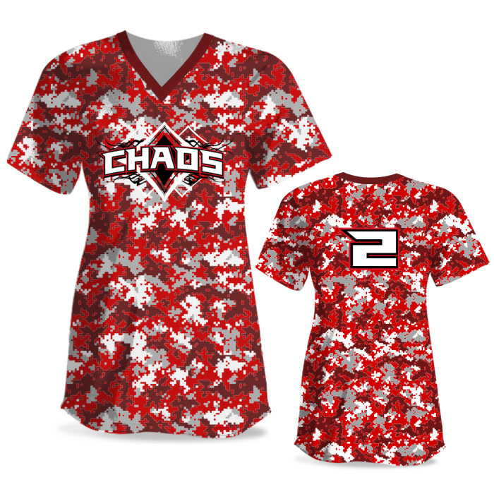 Custom Sublimated Elite Camo Rama Digi Camo FP Jersey SS No-Button