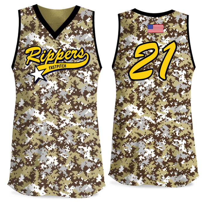 Custom Sublimated Elite Camo Rama Digi Camo FP Jersey Tank