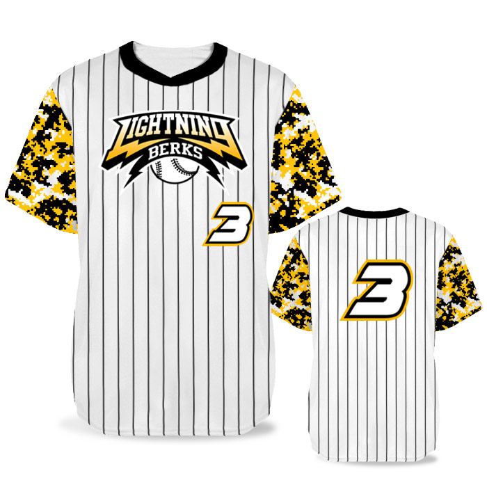 Custom Sublimated Elite Camo Rilla Digital BB Jersey SS No-Button