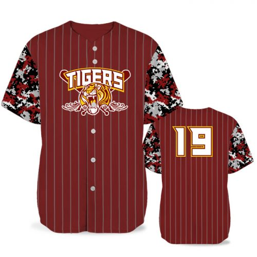 Custom Sublimated Elite Camo Rilla Digital BB Jersey SS Full-Button