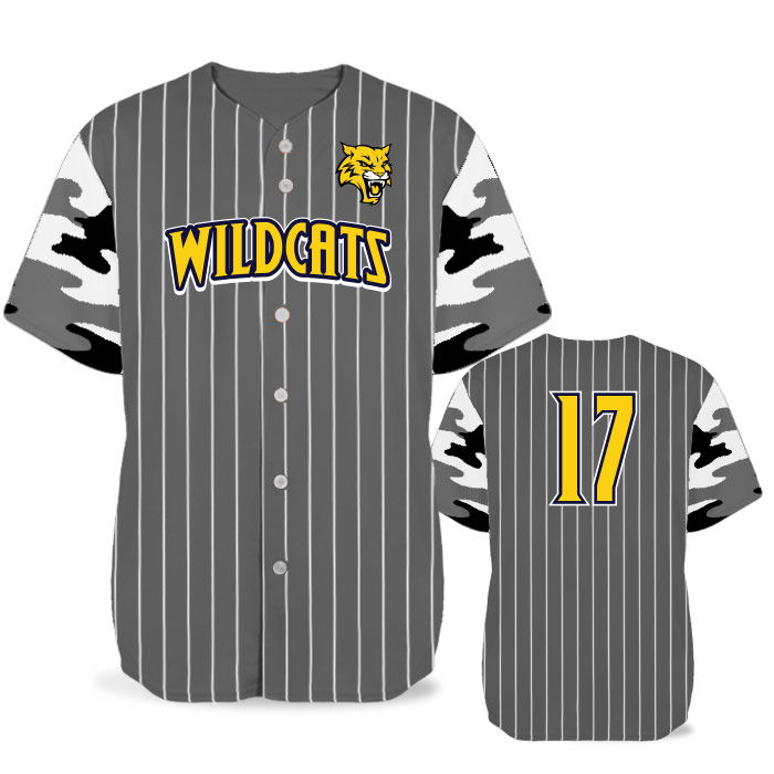Custom Sublimated Elite Camo Rilla Traditional BB Jersey SS Full-Button