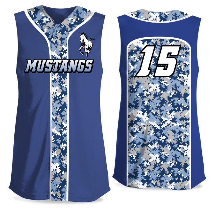 Custom Sublimated Elite Camo Soul Digi FP Jersey SL Full-Button