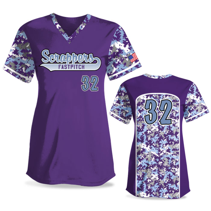 Custom Sublimated Elite Camo Soul FP Jersey SS No-Button