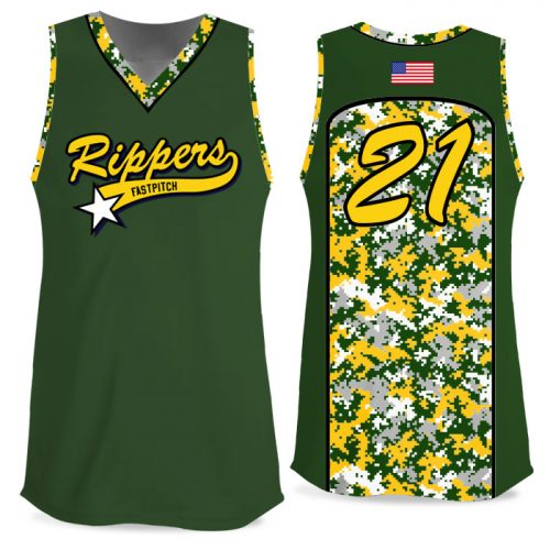 Custom Sublimated Elite Camo Soul Digi FP Jersey Tank
