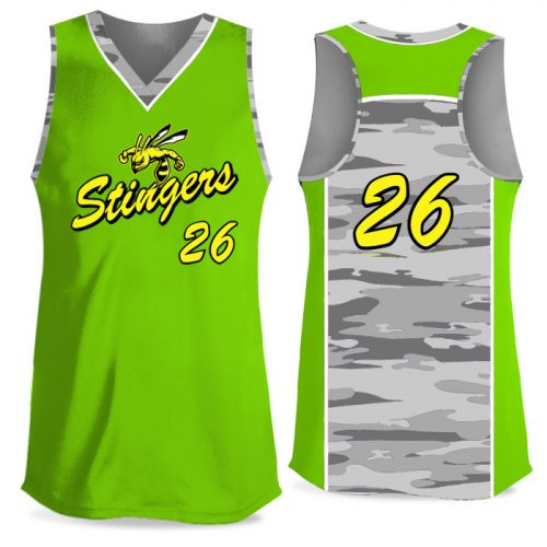 Custom Sublimated Elite Camo Soul Traditional FP Jersey Racerback